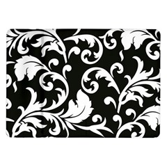 Vector Classicaltr Aditional Black And White Floral Patterns Samsung Galaxy Tab 10 1  P7500 Flip Case
