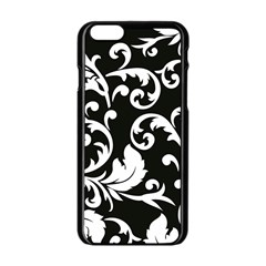 Vector Classicaltr Aditional Black And White Floral Patterns Apple Iphone 6/6s Black Enamel Case by BangZart