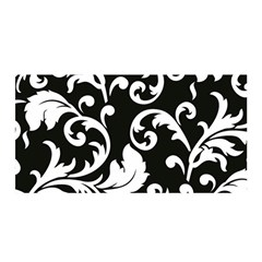 Vector Classicaltr Aditional Black And White Floral Patterns Satin Wrap