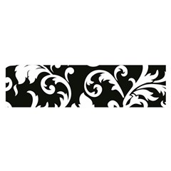 Vector Classicaltr Aditional Black And White Floral Patterns Satin Scarf (oblong)