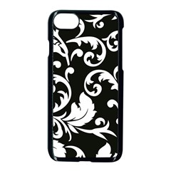 Vector Classicaltr Aditional Black And White Floral Patterns Apple Iphone 7 Seamless Case (black) by BangZart