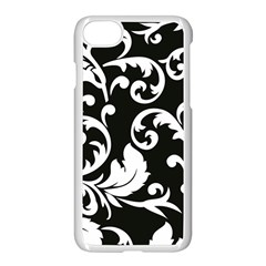 Vector Classicaltr Aditional Black And White Floral Patterns Apple Iphone 7 Seamless Case (white) by BangZart