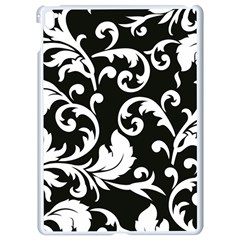 Vector Classicaltr Aditional Black And White Floral Patterns Apple Ipad Pro 9 7   White Seamless Case