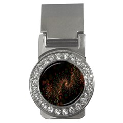 Multicolor Fractals Digital Art Design Money Clips (cz)