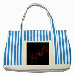Multicolor Fractals Digital Art Design Striped Blue Tote Bag by BangZart