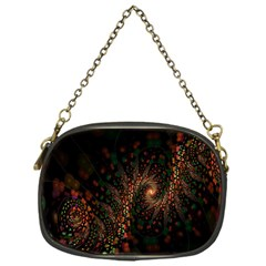 Multicolor Fractals Digital Art Design Chain Purses (one Side)