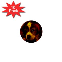 Cute 3d Dog 1  Mini Buttons (10 Pack)  by BangZart
