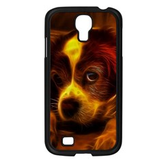 Cute 3d Dog Samsung Galaxy S4 I9500/ I9505 Case (black)