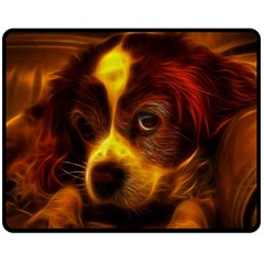 Cute 3d Dog Double Sided Fleece Blanket (medium)