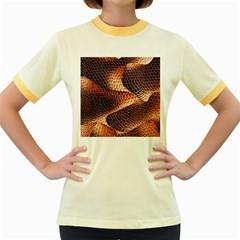 Snake Python Skin Pattern Women s Fitted Ringer T Shirts