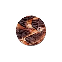 Snake Python Skin Pattern Golf Ball Marker by BangZart