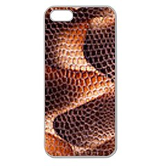 Snake Python Skin Pattern Apple Seamless Iphone 5 Case (clear) by BangZart