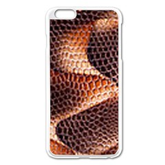 Snake Python Skin Pattern Apple Iphone 6 Plus/6s Plus Enamel White Case