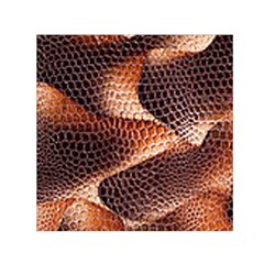 Snake Python Skin Pattern Small Satin Scarf (square) by BangZart