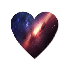 Digital Space Universe Heart Magnet