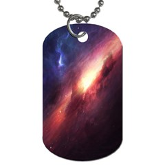 Digital Space Universe Dog Tag (one Side)