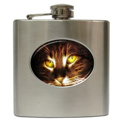 Cat Face Hip Flask (6 Oz)