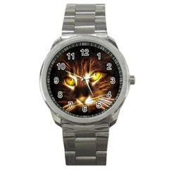 Cat Face Sport Metal Watch by BangZart