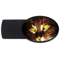 Cat Face Usb Flash Drive Oval (4 Gb)