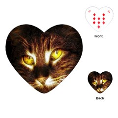 Cat Face Playing Cards (heart)  by BangZart