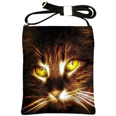 Cat Face Shoulder Sling Bags by BangZart