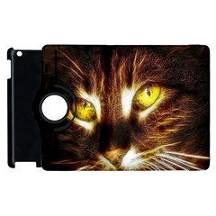Cat Face Apple Ipad 2 Flip 360 Case