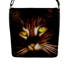 Cat Face Flap Messenger Bag (l)  by BangZart