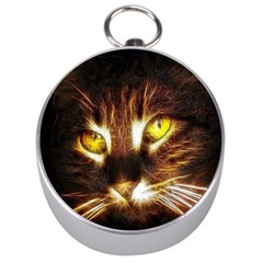 Cat Face Silver Compasses by BangZart