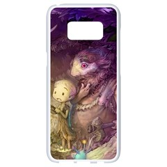 Cartoons Video Games Multicolor Samsung Galaxy S8 White Seamless Case