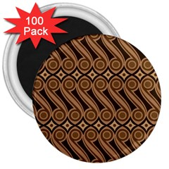 Batik The Traditional Fabric 3  Magnets (100 Pack) by BangZart