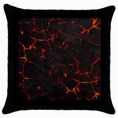 Volcanic Textures Throw Pillow Case (black) by BangZart