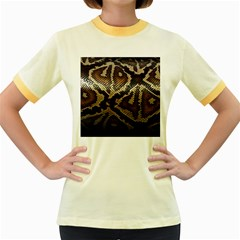 Snake Skin Olay Women s Fitted Ringer T-shirts