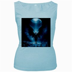 Rising Angel Fantasy Women s Baby Blue Tank Top