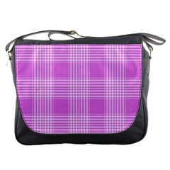Seamless Tartan Pattern Messenger Bags by BangZart