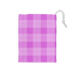 Seamless Tartan Pattern Drawstring Pouches (medium)  by BangZart