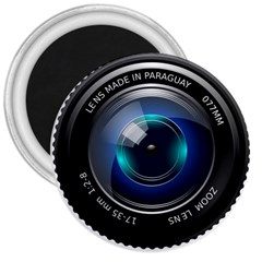 Camera Lens Prime Photography 3  Magnets by BangZart