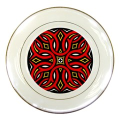 Traditional Art Pattern Porcelain Plates