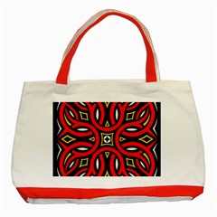 Traditional Art Pattern Classic Tote Bag (red) by BangZart
