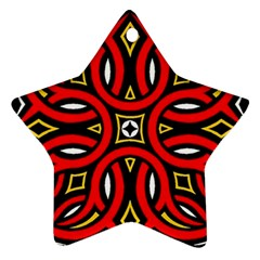 Traditional Art Pattern Star Ornament (two Sides)