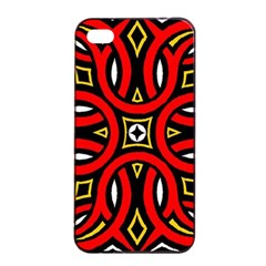 Traditional Art Pattern Apple Iphone 4/4s Seamless Case (black) by BangZart