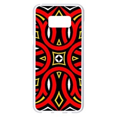Traditional Art Pattern Samsung Galaxy S8 Plus White Seamless Case by BangZart