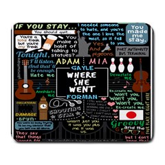 Book Quote Collage Large Mousepads by BangZart