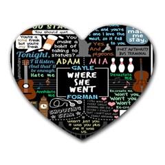 Book Quote Collage Heart Mousepads by BangZart