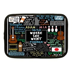 Book Quote Collage Netbook Case (medium)