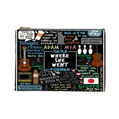 Book Quote Collage Cosmetic Bag (large)  by BangZart