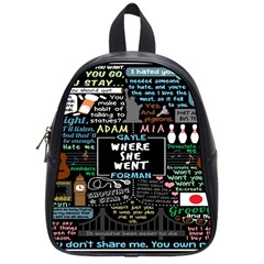Book Quote Collage School Bags (small)  by BangZart