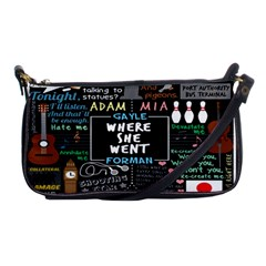 Book Quote Collage Shoulder Clutch Bags by BangZart