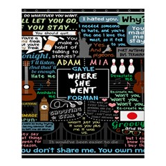 Book Quote Collage Shower Curtain 60  X 72  (medium)  by BangZart