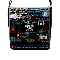 Book Quote Collage Flap Messenger Bag (l)