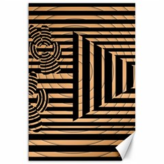 Wooden Pause Play Paws Abstract Oparton Line Roulette Spin Canvas 20  X 30   by BangZart